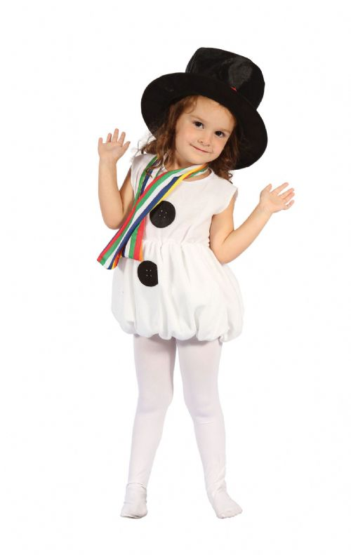 Childs Snow Girl Costume Christmas Fancy Dress Outfit